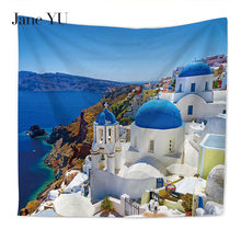 JaneYU New HD Cinque Terre Venice City Multifunction Beach Towel Tapestry Home Decoration