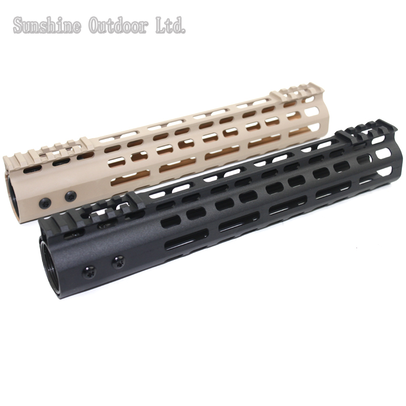 New lightweight CNC aluminum anodes M-LOK 11 inch handguard rail one Picatinny rails system BK/TAN микрофонная стойка quik lok a344 bk