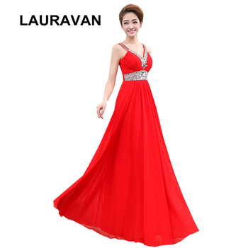 plus size a-line sleevless brides maid v neck chiffon dress bridesmaid dresses red purple long for beach wedding guests