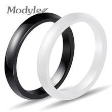 Modyle Neue 3mm Licht Rosa Schwarz Weiß Blau Schöne Glatte Keramik Ring Für Frauen Moderne Hochzeit Russische Marke Ring schmuck
