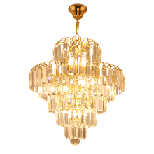 Modern minimalist crystal restaurant chandeliers LED Luster living room chandelier European bedroom stairs aisle Light fixture