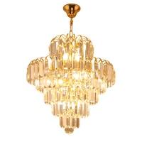 Modern minimalist crystal restaurant chandeliers LED Luster living room chandelier European bedroom stairs aisle Light fixture