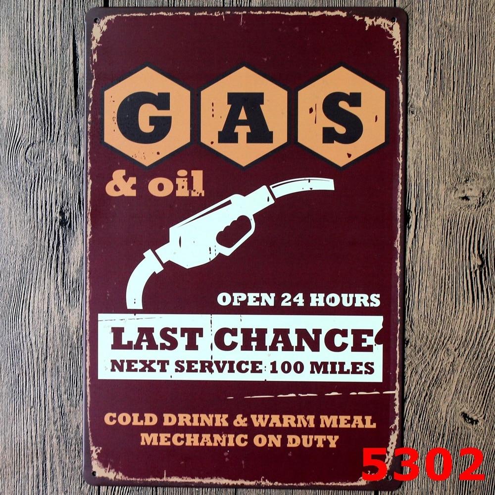 New Selling Vintage Gas Oil Weathered Service Garage Vintage Style ...