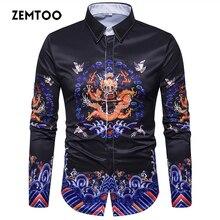 Zemtoo hombres camisa de marca 2017 hombre de alta calidad de manga larga  camisa casual color slim fit camisas hombre vestido Dr.. be32d214298