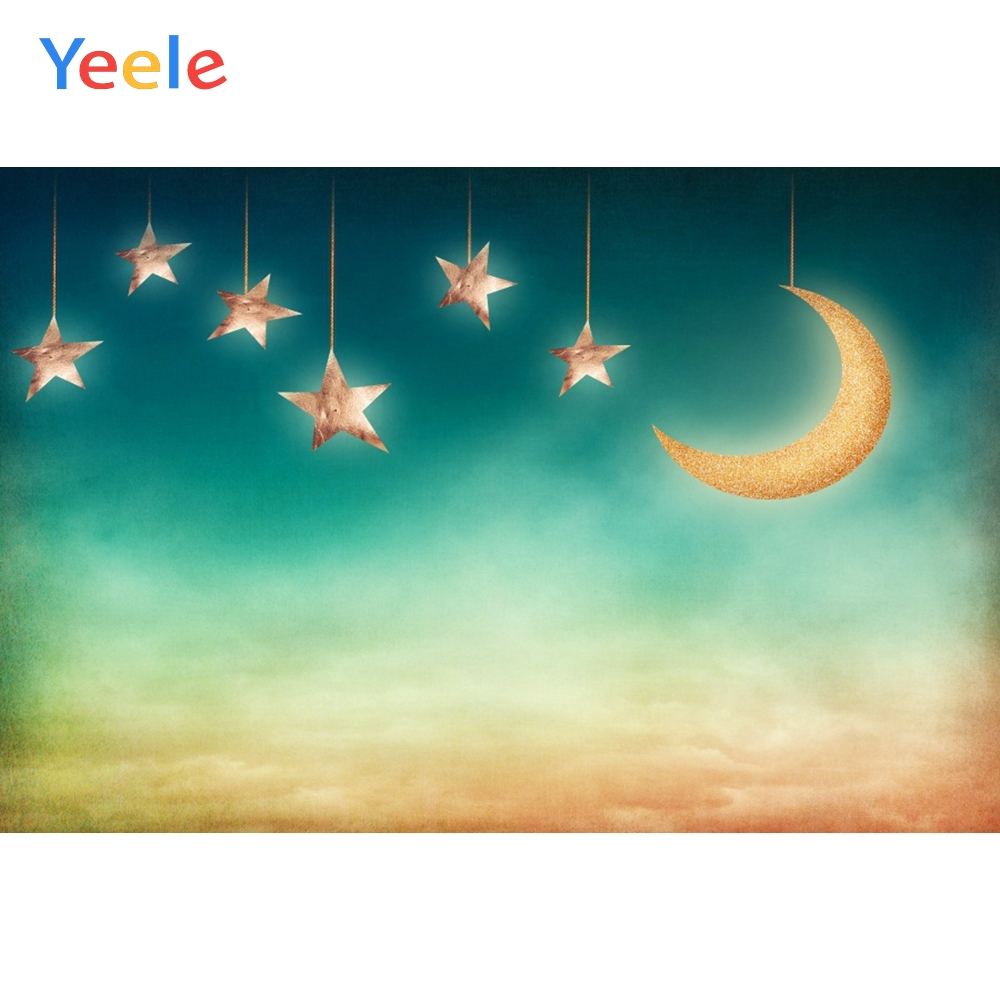 Yeele Potocall Child Bedroom Painting Moon Star Dream Photography Backdrop Personalized Photographic Background For Photo Studio