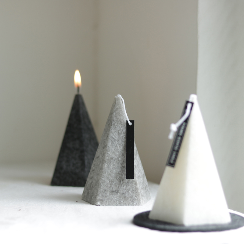 Geometric Conical Scented Candles Silicone Mold Candles Home Furnishing Pieces Plaster Mold Cement Ring Holder Mold
