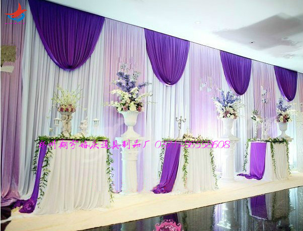 Buy party drapery 10ft 20ft wedding stage for Background curtain decoration
