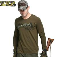 Zuoxiangru Mens Force Swat Tactical Sweater Combat Slim Male Sweater Elastic Cotton Tee Tops Army Green