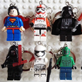 Star Wars Keychain The Force Awakens Kylo Ren Superman Iron Man Phasma Building Blocks Set Figures Bricks Toys Key holder