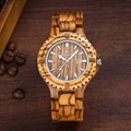 Мужские кварцевые часы с календарем  100% деревянные часы с деревянным чехлом