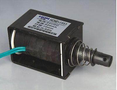 24V Pull Hold/Release 10mm Stroke 6.3Kg Force Electromagnet Solenoid Actuator 24v pull hold release 10mm stroke 6 3kg force electromagnet solenoid actuator