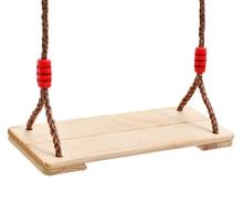 Wooden Adults Children Indoor Outdoor Patio Swinging Swings Adjustable Rope Swings Hanging Kindergarten Playground Gifts LF116