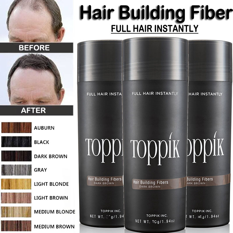 Toppik Hair Fibers Powder Keratin Thickening Spray Hair Building Fibers Loss Products Instant Wig Regrowth Powders for Thin Hair