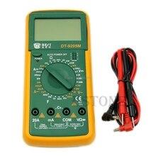 DT9205M AC DC Pantalla LCD Eléctrico Handheld Tester Medidor Multímetro Digital Multiprobador Multimetro Amperímetro Ohmímetro-B119