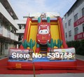 Factory direct inflatable trampoline, inflatable slides, racing slides.