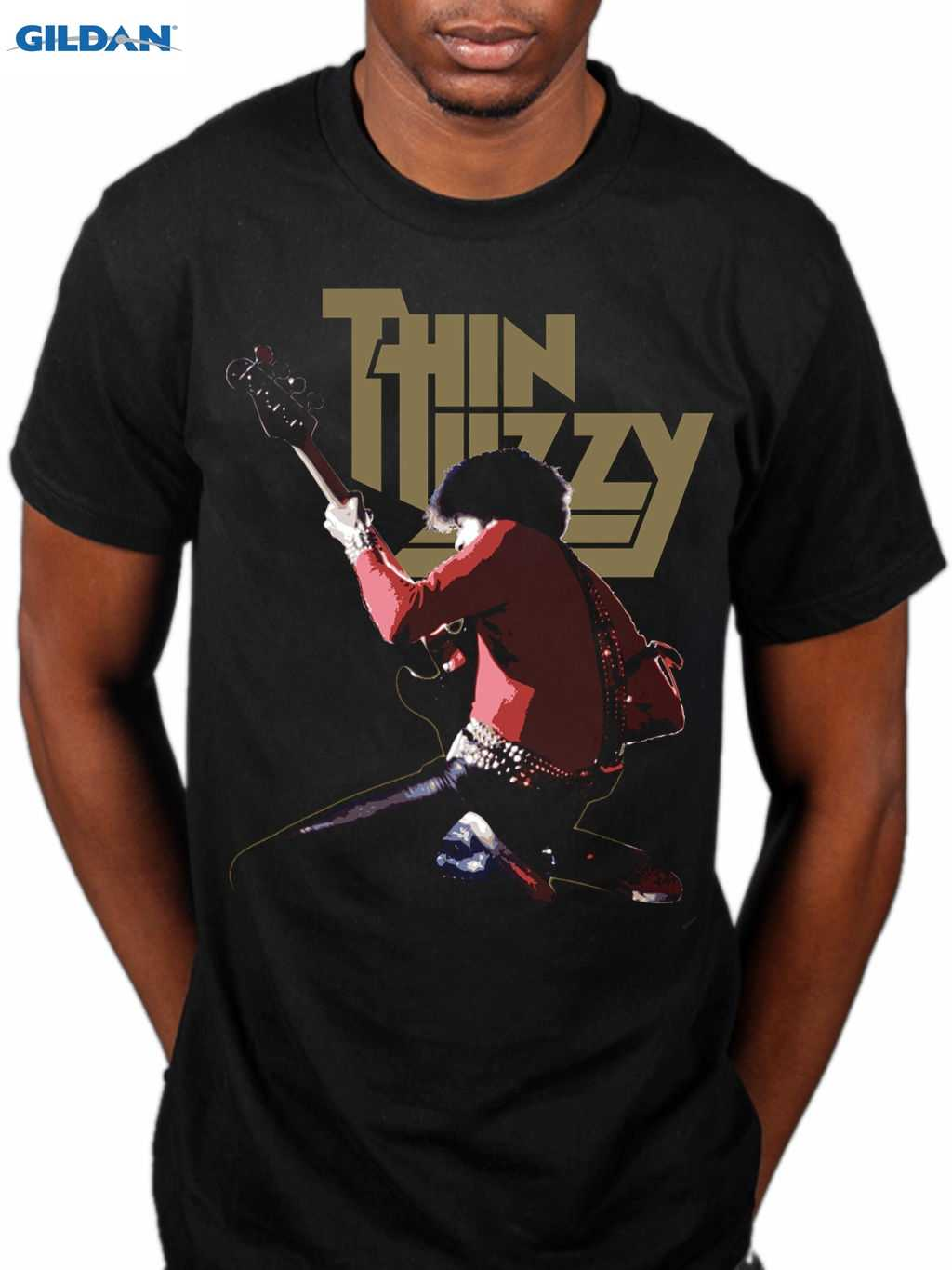 9bccbbc5d Official Thin Lizzy Phil Lynott Live Rock Band Merch Skid Row Dare Gift  Print T-