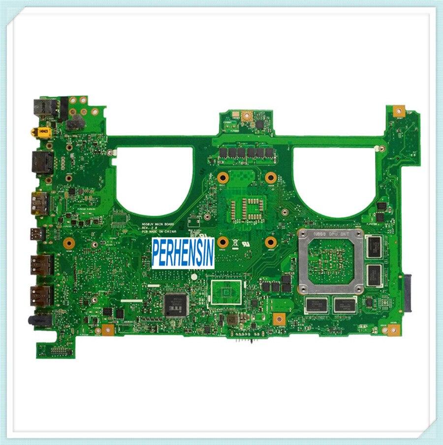 For For Asus N550J G550J N550JV G550JK Laptop Motherboard w i7 4700HQ Mainboard 100 Work