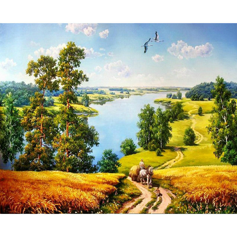 0329ZC103 Home wall furniture Decorations DIY number painting children Graffiti Plains Trail painting by numbers запчасти для принтера superparts lc123 lc125 lc127 lc133 lc135 lc137 lc563 lc565 lc567 zc 103
