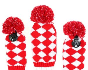 Image 4 - 4psc/set  Abstract Pattern Knit Golf Club Head Cover for Driver Wood (460cc), Fairway,Hybrid with Number Tag