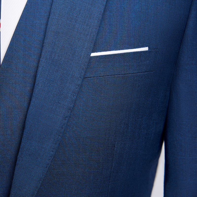 Hommes pu bleu veste Homme Qualité Haute Slim Royal Ciel Bleu Fit De Robe Mariage Costumes Gilet 3 Marié D'affaires Costume Pantalon Couleurs Formel Vêtements REFSE