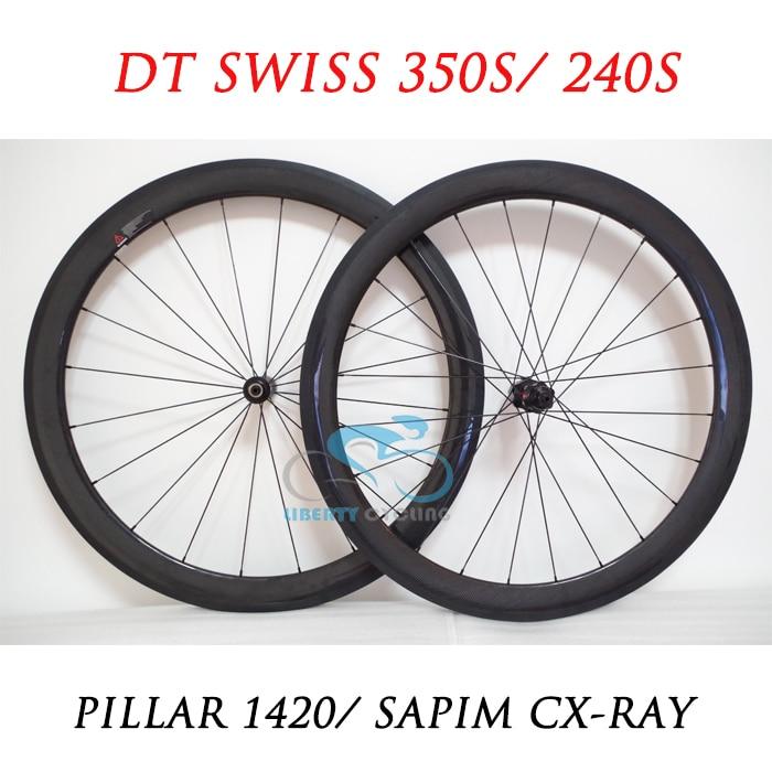 DEERACE 60mm 700c Carbon Clincher Tubeless Road Bicycle Wheels Bike Wheelset 23mm V Shape or 25mm U Shape