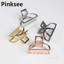 Women Modern Stylish Metal Hair Claw Hairband Clips For Women Bun Maker Hairpins Hair Crab Fashion Hair Accessories Gold Color stylish beads lace hairband for women