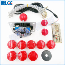 DIY Handle Arcade Set Kits 24mm/30mm Push Buttons Replacement Parts Zero Delay USB Cable Encoder Board To PC Joystick Button(China)