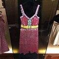 2016 Blingbling Lentejuelas Encaje Mismo Estilo de la Marca Vestidos de Pasarela de Moda de Lujo Correas Espaguetis Mini Vestidos De Fiesta Vestido