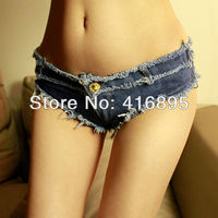Hot Dance Shorts Desfiado Mini Micro Shorts Jeans Denim Daisy Dukes Sexy Girl Cintura Baixa Calça Jeans Denim Tanga 12050113