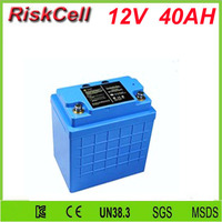 Free customs taxes and shipping 12v 40ah Lifepo4 Battery Pack for Portable Power/Battery Lifepo4