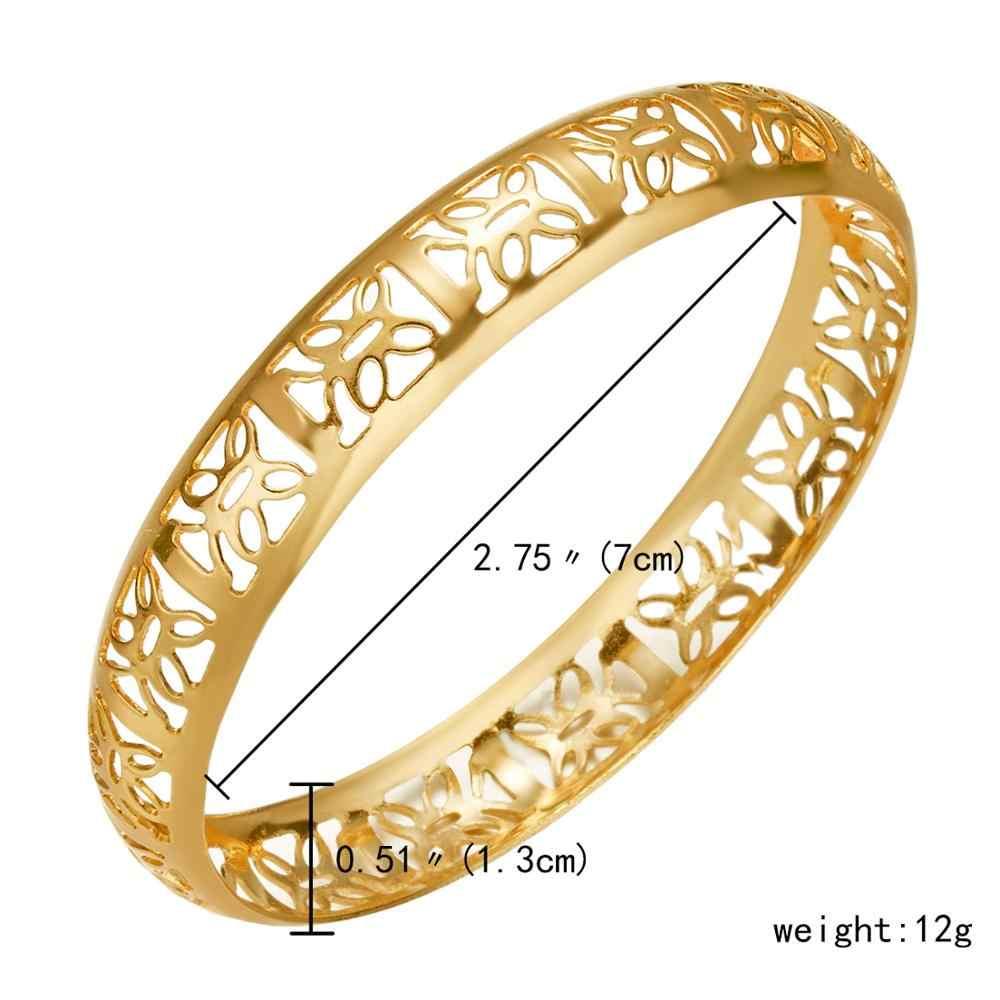 Rinhoo 7cm złoty kolor Retro dubaj grawerowanie bransoletki dla kobiet etiopii bransoletki na bliskim wschodzie biżuteria ślubna afryki prezenty