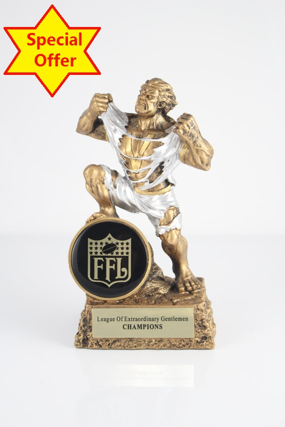 ФОТО Fantasy Football Monster Trophy Free Engraving 6.8 inches (17cm)