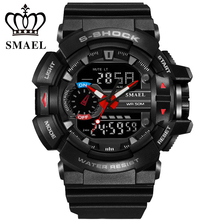 New Sport Watches Popular Men Dive Watch LED Digital Wristwatch Analog-Digital Dual TIme relogios masculino montre homme WS1436