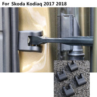 Car body anti rust water proof Door lock key Plastic buckle Limit device trims 4pcs For Skoda Kodiaq 2017 2018