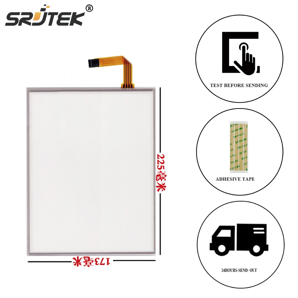 Srjtek 10.4 Inch 4 Wire For LQ104V1DG52 / 51 G104SN03 V.1 AMT 9509 225*173mm Resistive Touch screen Panel Digitizer amt 146 115 4 wire resistive touch screen ito 6 4 touch 4 line board touch glass amt9525 wide temperature touch screen