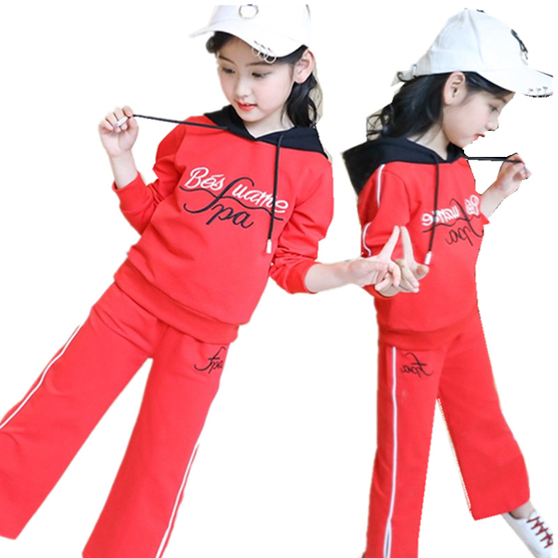 Kids Clothes 2018 Spring Summer Long Sleeve Hoodies And Girls Pants Two Piece Set Floral Girls Suit Tracksuit Girls Clothes 10 Y джинсы y two y two yt002emxxr00