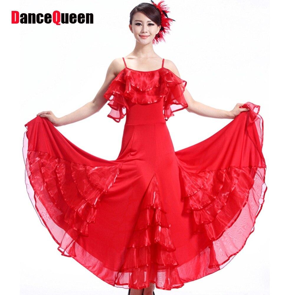 Led Costume Violet/Red/Black Ballroom Dress For Women ...