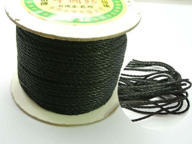 48 Meter Black Nylon Love Rope Binding Bind up Synthetic Silk String 2mm