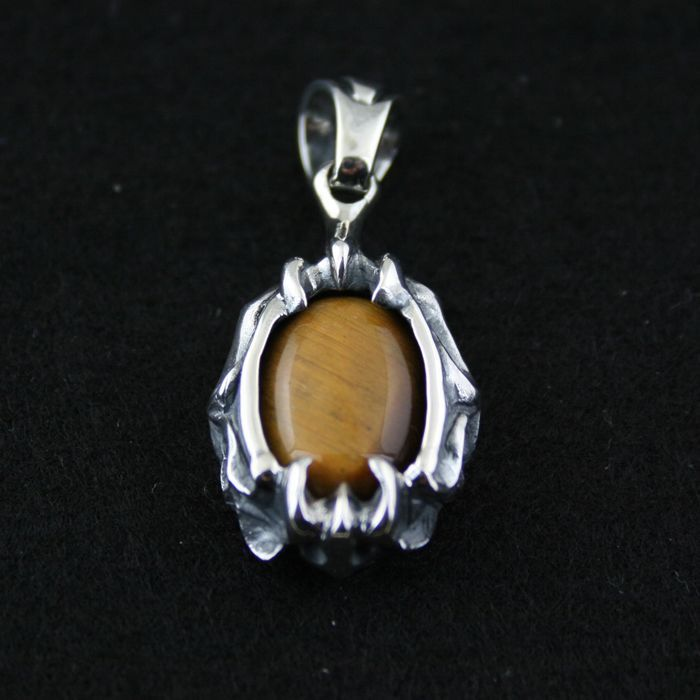 925 pure silver pendants vintage gothic inlaying yellow pseudocrocidolite silver pendants цена 2017