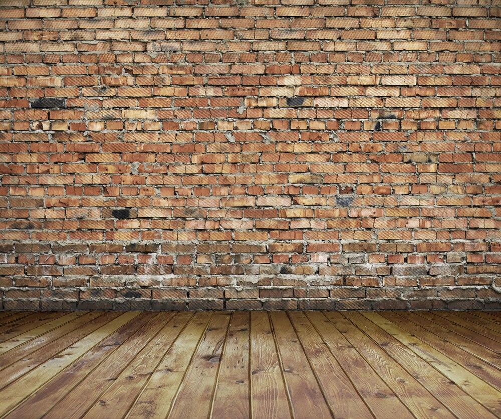 ФОТО SHENGYONGBAO 8x8FT  Brick Wall & Wooden floor theme Vinyl Custom Photography Backdrops BW156