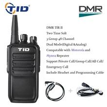 TID TD-V28D Dual Slot Time DMR Walkie Talkies Digital & Analog Mode Tvåvägs Radio