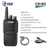 TID TD V28D Dual Slot Time DMR Walkie Talkies Digital & Analog Mode Two Way Radio