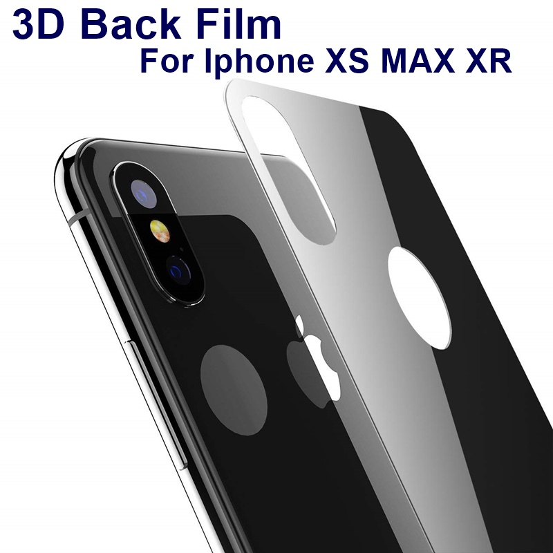 9H Full Cover Protective Back Film Glass For iPhone XS MAX X