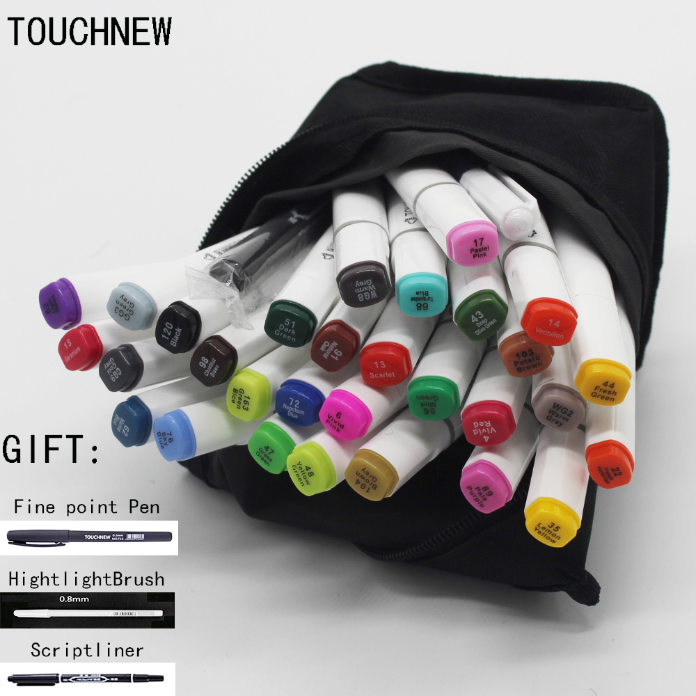 Free shipping six generations a two-headed oily mark pen hand-painted design cartoon / 30 48 72 color fine markers manga draw manga design 24 color three generations oily alcoholic paint mark pen permanent marker sketch double headed copic markers