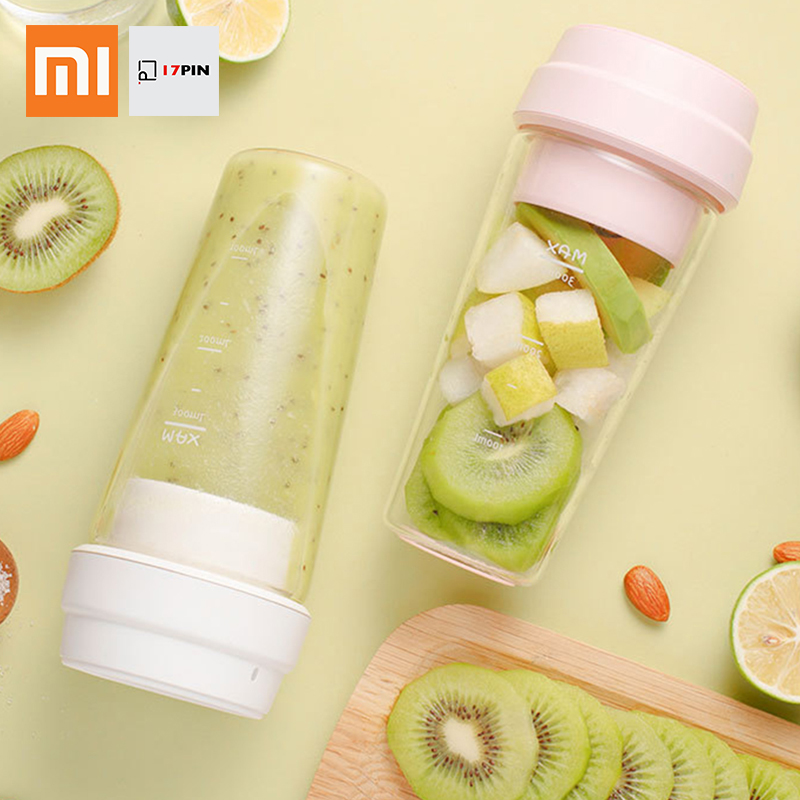 Xiaomi 17PIN Star Firut Cup Portable Small Juicer Juice Extracter Fruit Cup Magnetic Charging Hiden Blades