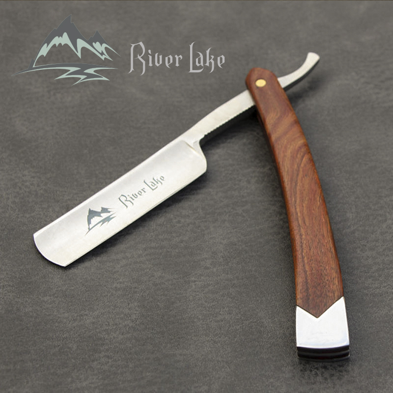 River lake straight Razor Folding Shaving Knife Professional Men Manual Beard Shaver Stainless Steel Straight Edge Barber