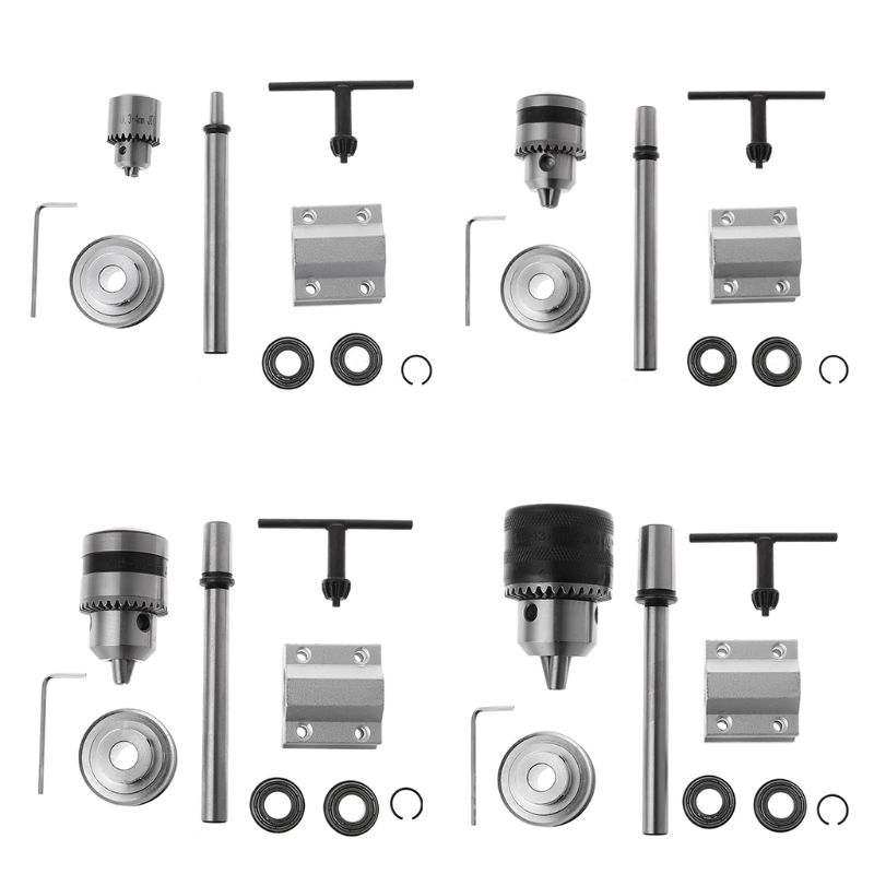 JTO/B10/B12/B16 Electric Drill No Power Spindle Assembly DIY Woodworking Cutting Grinding Small Lathe Trimming Belt Drill Chuck
