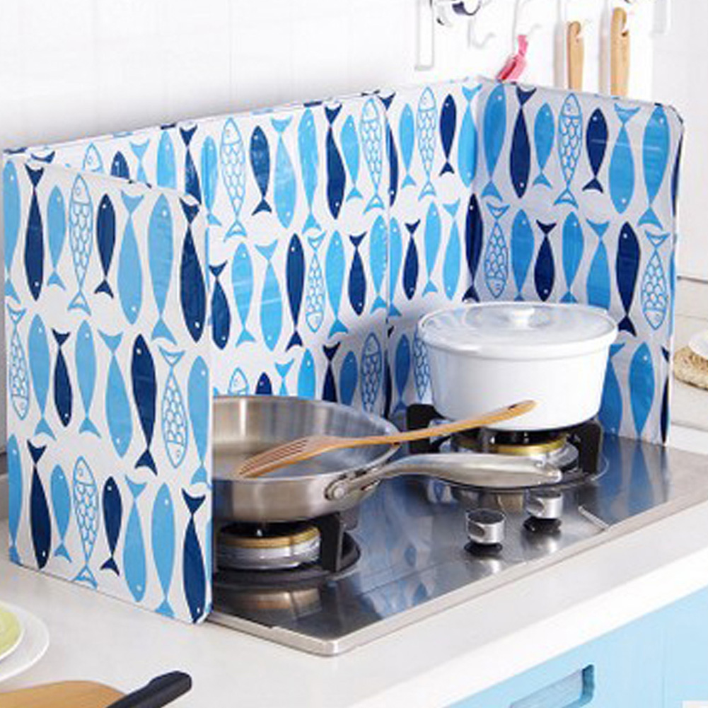 cooking plate stove kitchen grease Oil splash baffle Anti Splatter ...