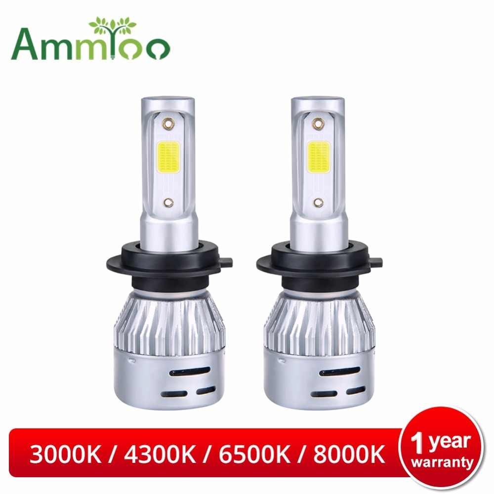 AmmToo H4 Led Car Headlight H7 LED Bulb H1 H11 9005 9006 Led Light Super Bright 72W 8000Lm Auto lamp 3000K 4300K 6500K 8000K 12V