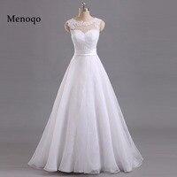 Menoqo 2017 Custom Made Örgün Gelinlik Vestido De Noiva Casamento Organze Dantel Robe De Mariage Gelin Çin Yapılan